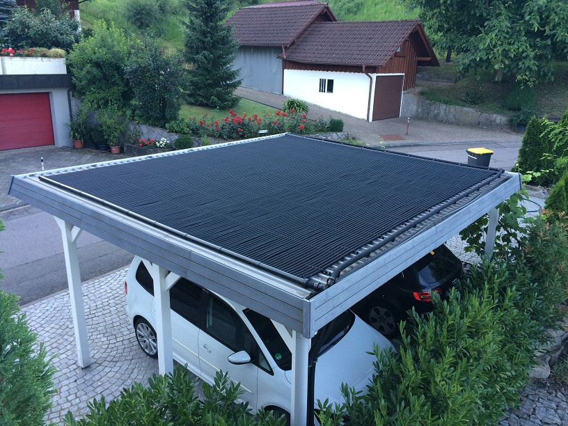 Solarheizung Pool Carport